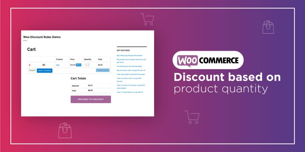 WooCommerce Discount based on product quantity