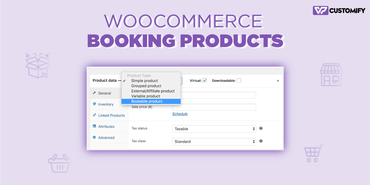 woocomarce booking product