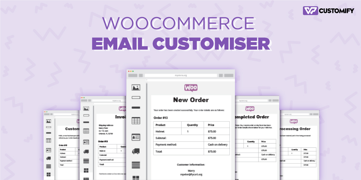 woocommarce email customiser