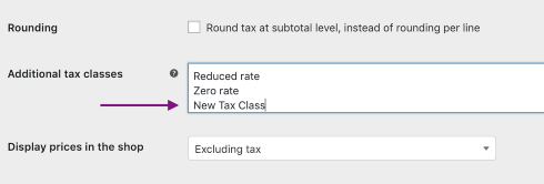 Additional Tax Classes