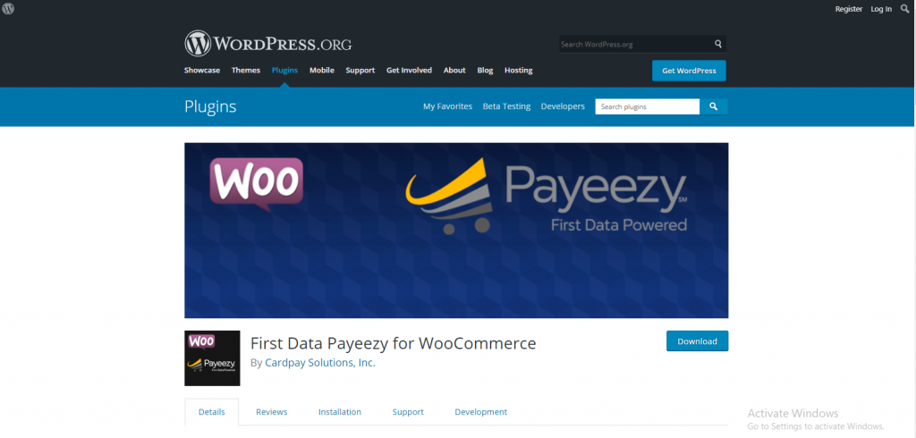 First Data Payeezy for WooCommerce plugin