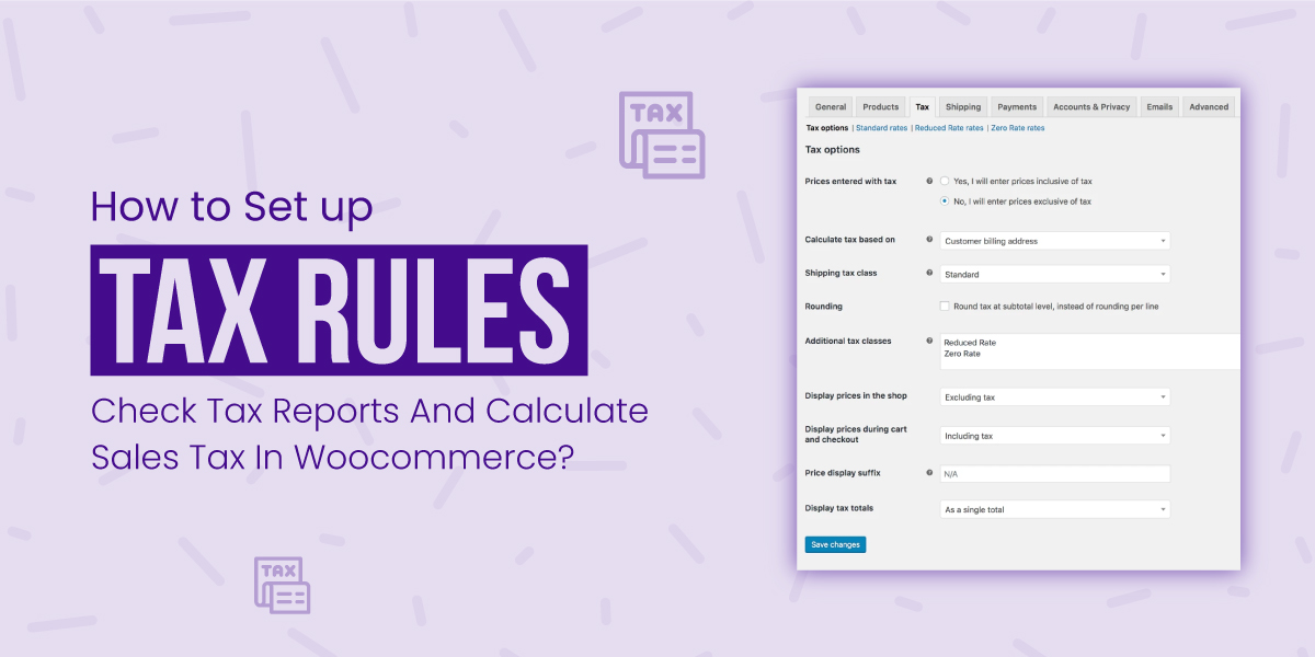 How to Set Up Tax Rules