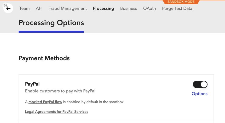 Braintree PayPal Gateway Settings