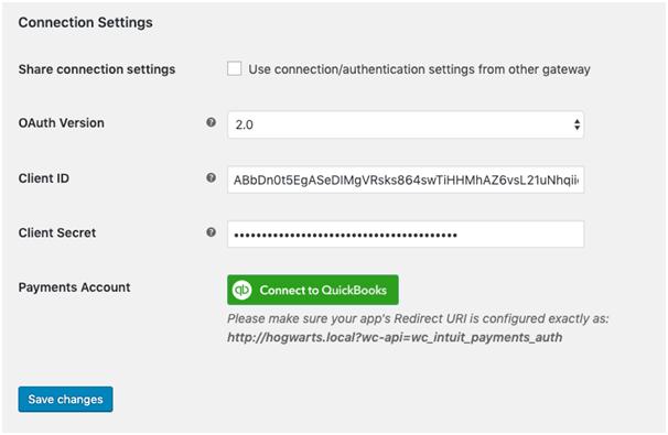 Configure Intuit Payment Gateway