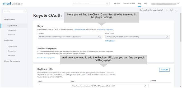 Key and OAuth