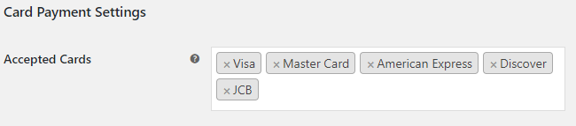 Card Payment Settings