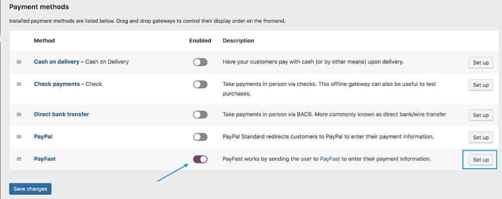 PayFast method