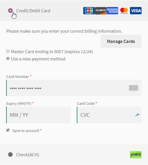 Single Payment Method