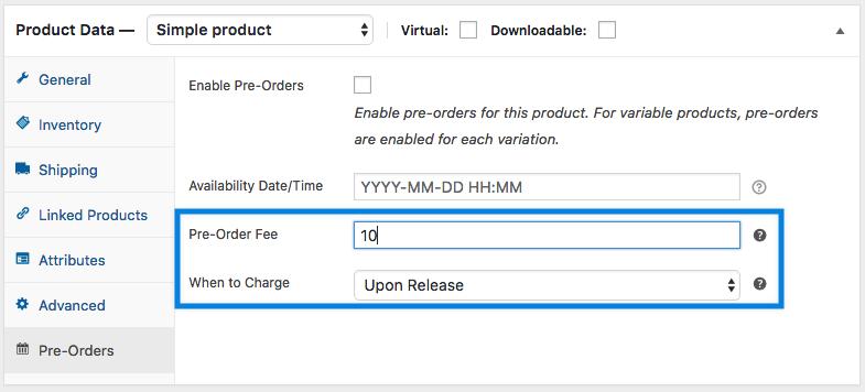 nominal Pre-Order Fee
